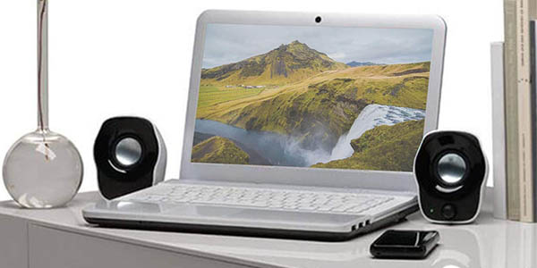 Altavoces estéreo compactos Logitech Z120 para PC baratos