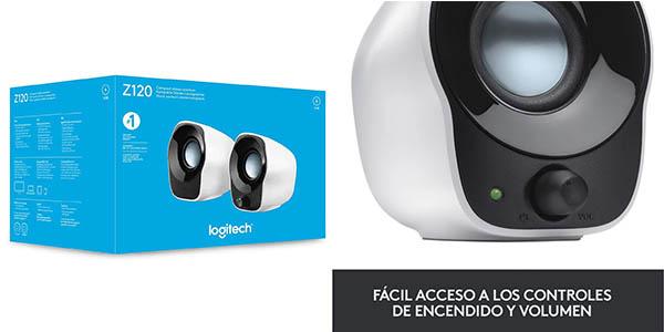 Altavoces estéreo compactos Logitech Z120 para PC en Amazon