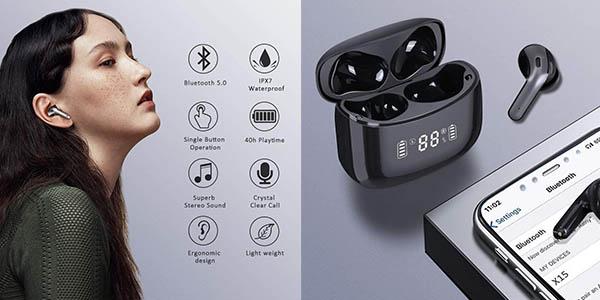 Auriculares inalámbricos in-ear Prtukyt Bluetooth 5.0 baratos