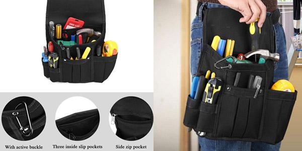 Cinturón de herramientas Baigio con bolsa de nailon ajustable chollo en Amazon