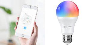 Bombilla inteligente TECKIN WiFi RGB