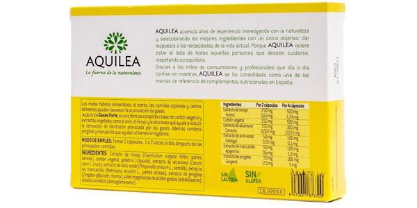 Caja 60 cápsulas de Aquilea Gases Forte chollo en Amazon
