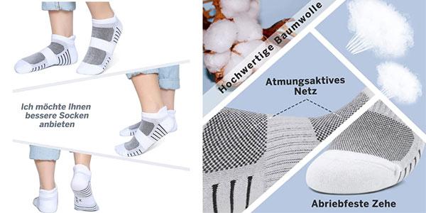 Calcetines cortos deportivos unisex Paunew en oferta