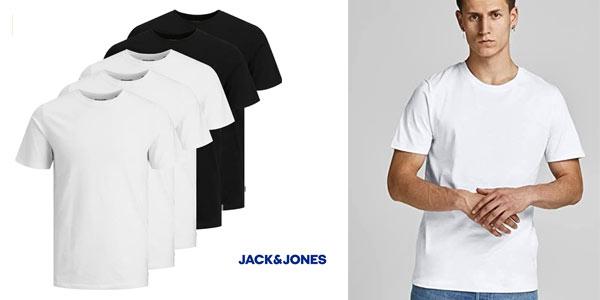 Camisetas Jack Jones pack 5 chollo