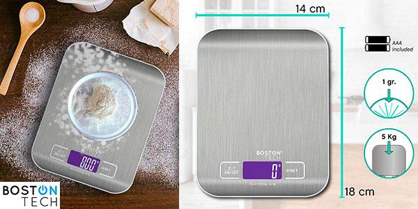 Chollo Báscula de cocina digital Boston Tech HK105 impermeable