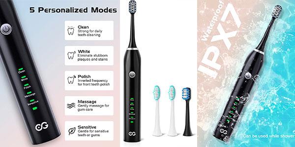 Chollo Cepillo de dientes eléctrico WEEya con 4 cabezales