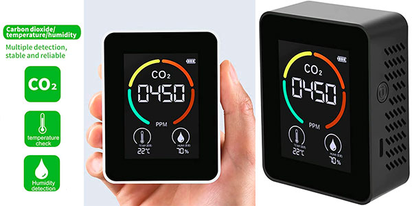 Chollo Detector de CO2 portátil Festnight