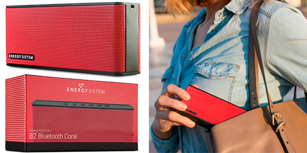Chollo Altavoz portátil inalámbrico Energy Sistem Music Box B2 Bluetooth Coral