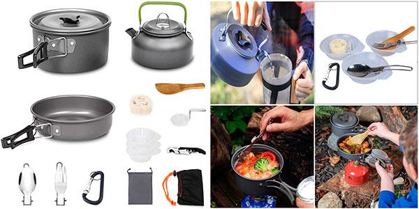 Chollo Kit AUTOPkio de 15 utensilios de cocina para camping