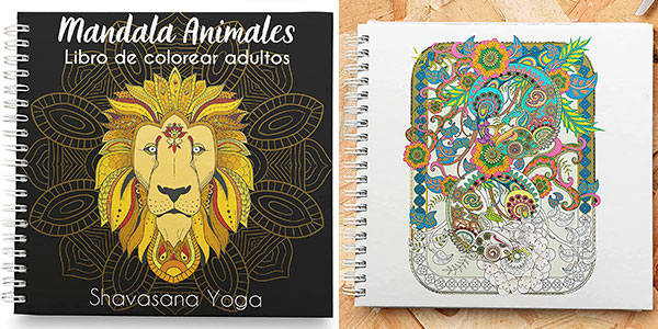 Chollo Libro de colorear mandalas de animales para adultos
