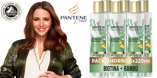 Chollo Pack de 6 champúss Pantene Pro-V Miracles Crecimiento con Fuerza de bambú