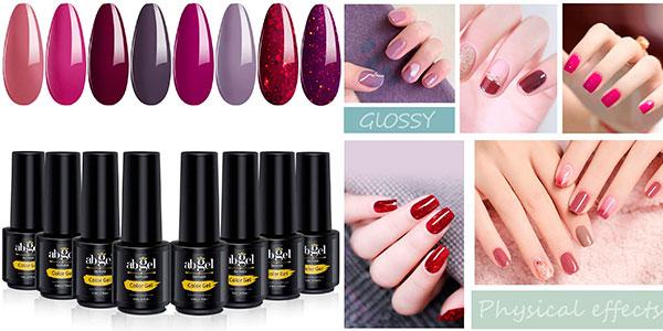 Chollo Pack ab Gel de 8 botes de esmalte de uñas