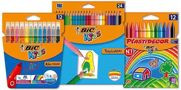 Pack BIC Kids de 24 lápices, 12 rotuladores y 12 ceras en oferta
