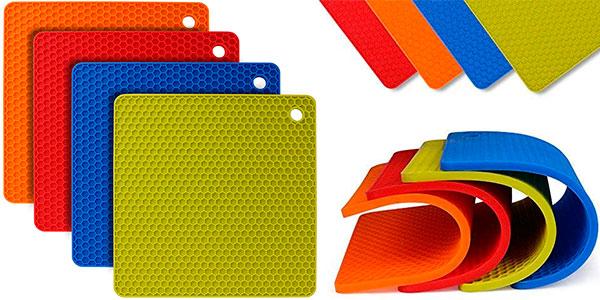 Chollo Pack Flintronic de 4 salvamanteles de silicona