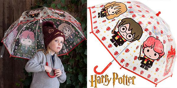 Chollo Paraguas infantil Harry Potter transparente de 71 cm