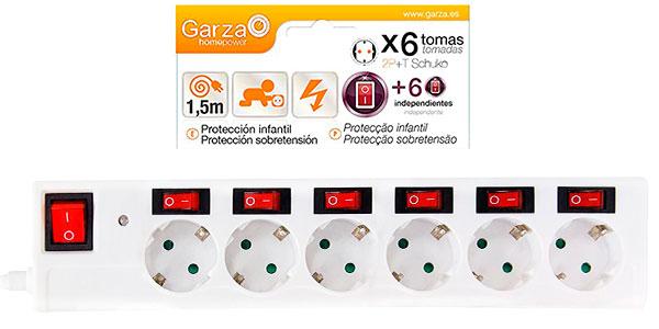 Chollo Regleta Garza 420034 de 6 tomas con interruptores independientes