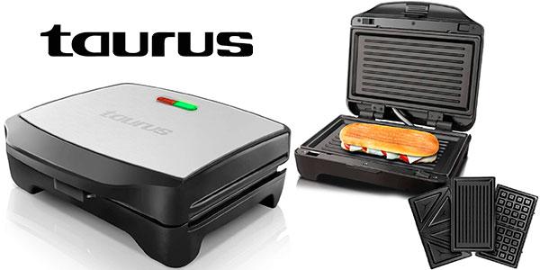 Chollo Sandwichera Taurus Miami Premium con placas intercambiables de 900 W