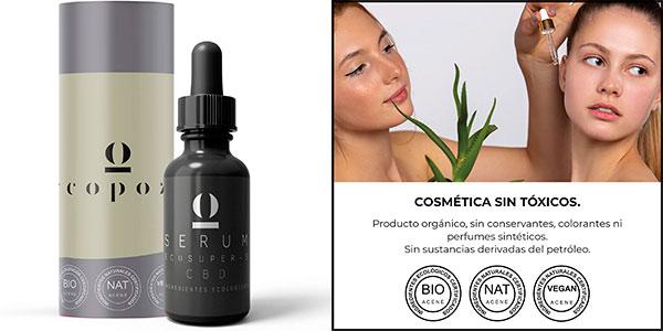 Chollo Sérum facial Ecopozo CBD con ácido hialurónico, aloe vera y colágeno de 50 ml