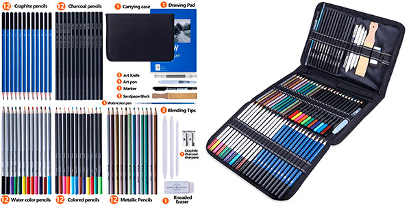 Chollo Set Furnizone de 72 lápices acuarelables