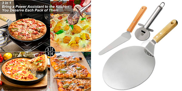 Chollo Set TedGem de pala y cortador de pizzas