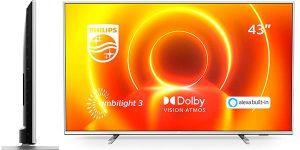 "Chollo Smart TV Philips 43PUS7855/12 Ambilight UHD 4K de 43"""