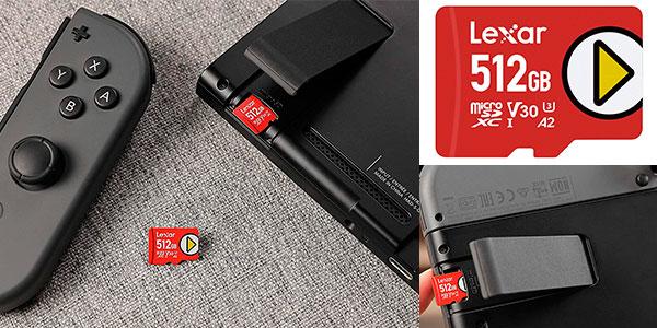 Chollo Tarjeta microSDXC Lexar Play de 512 GB y 256 GB
