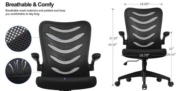Comhoma silla escritorio confortable ajustable barata
