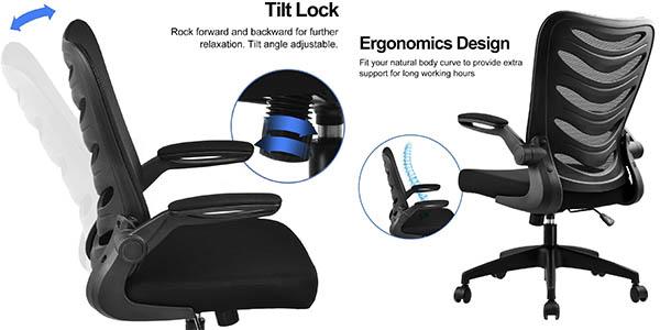 Comhoma silla escritorio regulable transpirable descuento