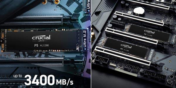 Disco SSD NVMe Crucial P5 CT1000P5SSD8 de 250 GB chollo en Amazon