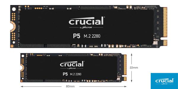 Disco SSD NVMe Crucial P5 CT1000P5SSD8 de 250 GB barato en Amazon