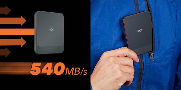 Disco SSD Portátil LaCie de 1 TB en Amazon