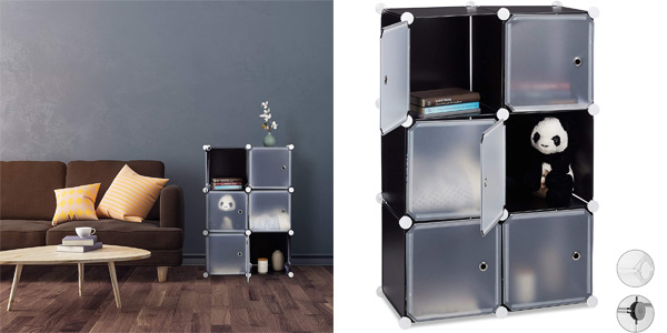 Estantería modular Relaxdays con 6 cubos de 30 x 30 cm barata en Amazon