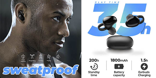 Joyroom auriculares inalábricos Bluetooth 5.0 oferta