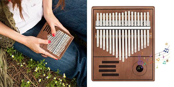 Piano de pulgar kalimba caoba