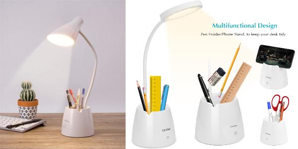 Lámpara LED para escritorio Grelae barata en Amazon