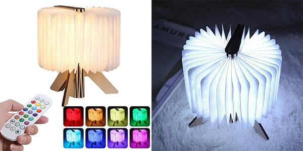 Lámpara LED de ambiente Tom-Shine con diseño de libro