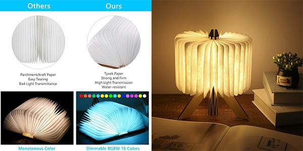 Lámpara LED de ambiente Tom-Shine con diseño de libro barata