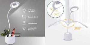 Lámpara de escritorio LED recargable Minluk