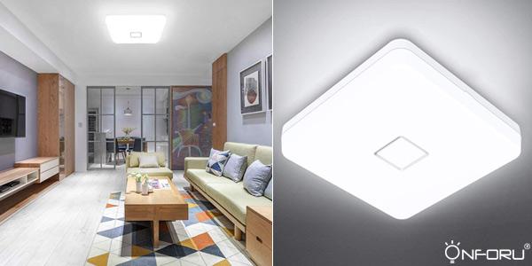 Lámpara LED de techo Onforu de 24W barata en Amazon