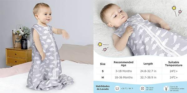 Lictin saco dormir bebés tejido fino chollo