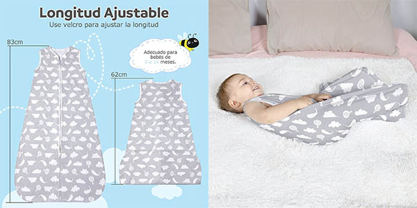 Lictin saco dormir verano bebés oferta