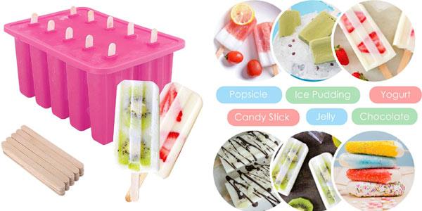 Molde de silicona para hacer helados barato