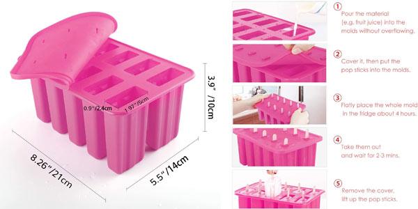 Molde de silicona para hacer helados en oferta