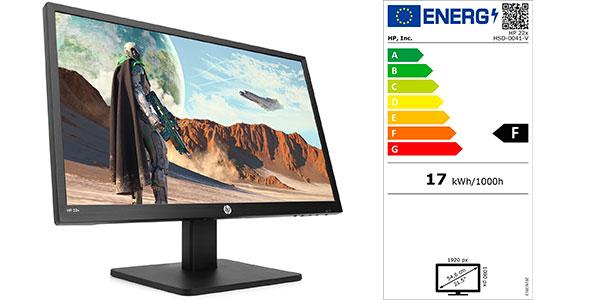"Monitor gaming HP 22x Full HD de 22"" y 144 Hz barato"