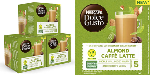 Nescafé Dolce Gusto Vegan cafe Almendra cápsulas chollo