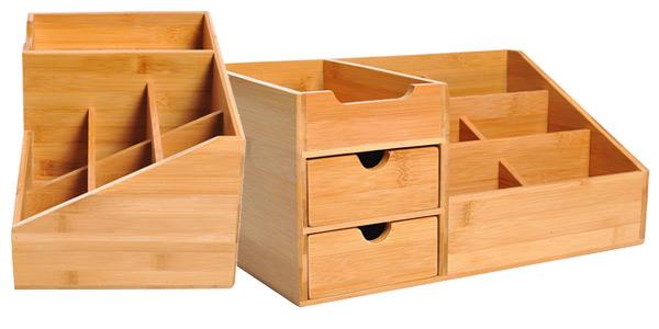 Organizador de escritorio Homcom de madera de bambú oferta en Amazon