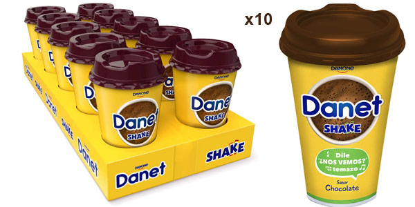 Pack x10 Batidos Danet Shake chocolate de 200 ml barato en Amazon