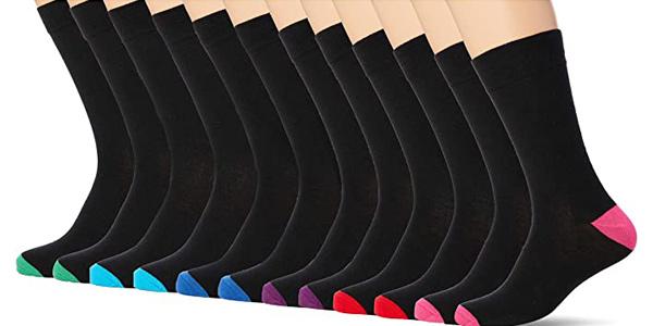 Pack x12 Pares de calcetines unisex FM London Anti-Odour chollo en Amazon