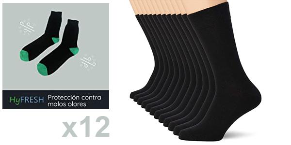 Pack x12 Pares de calcetines unisex FM London Anti-Odour baratos en Amazon