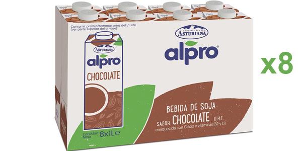 Pack x8 briks Alpro Bebida De Soja Con Chocolate 100% Vegetal barato en Amazon